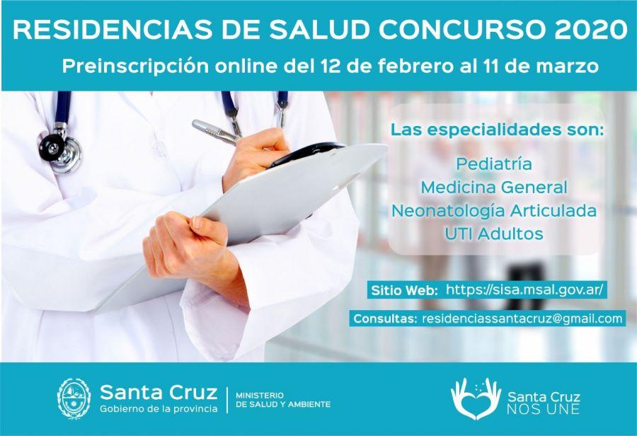 Informan que se realizará el examen único 2020 para el Concurso Residencias Medicas