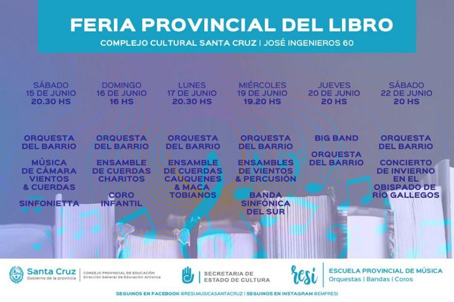 La Escuela Provincial de Música RE SI se presenta en la Feria Provincial del Libro