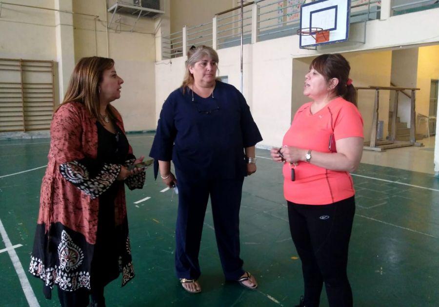 Recorrieron obras de Mantenimiento Escolar en Caleta Olivia y Pico Truncado