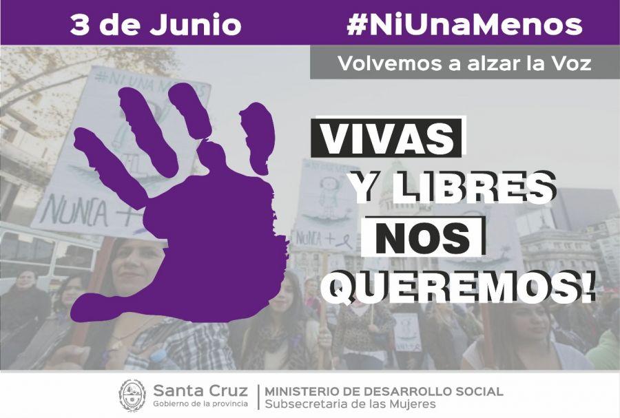 """Este 3 de junio, Santa Cruz nuevamente dice """"Ni una Menos"""""""