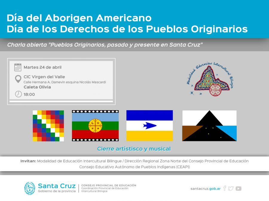 Mañana realizarán charla sobre Pueblos Originarios de Santa Cruz
