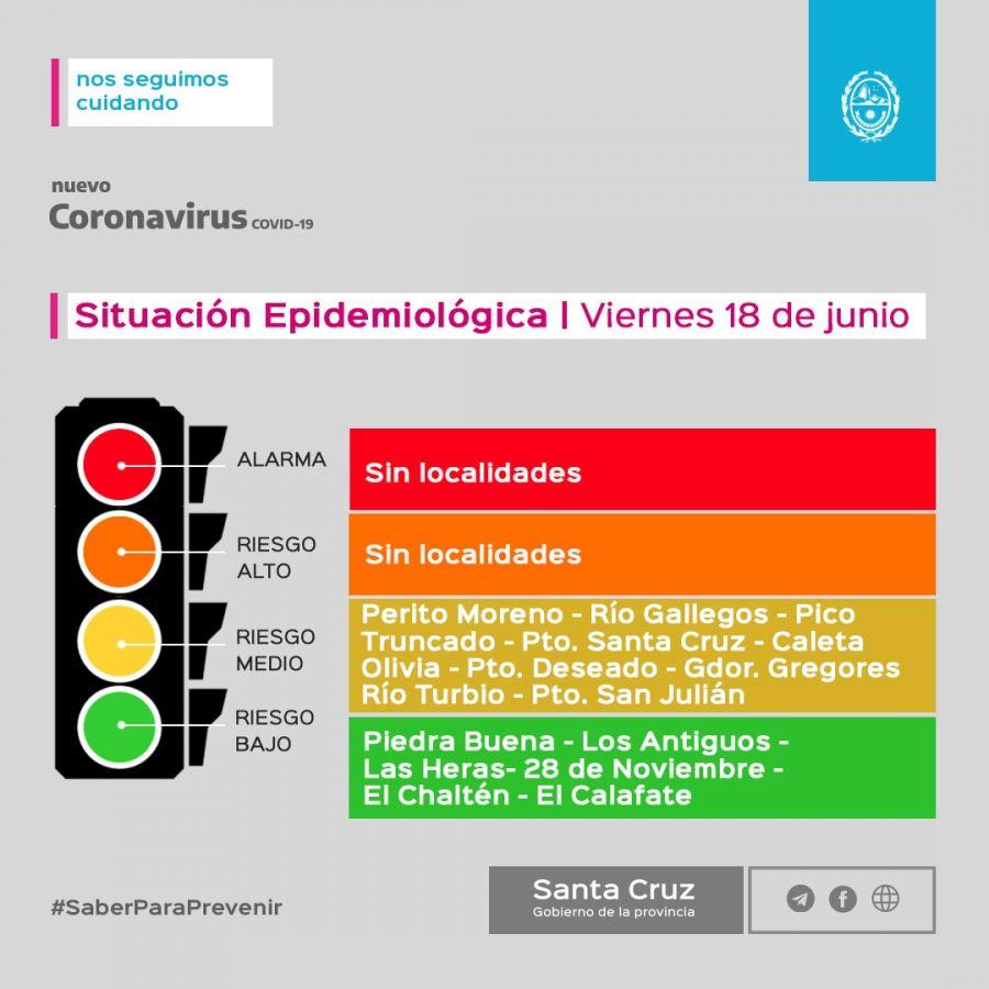 Santa Cruz actualiza el semáforo epidemiológico