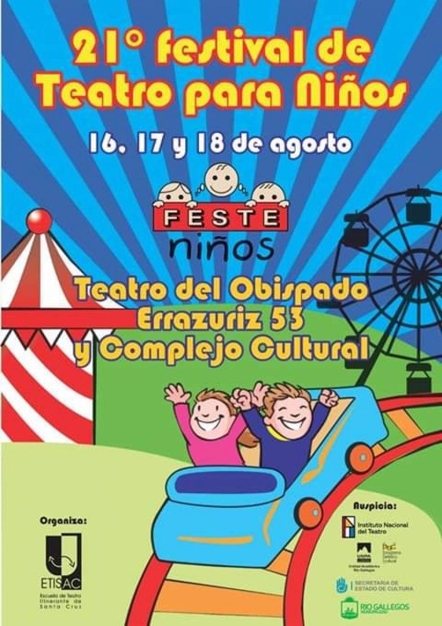 Mañana comienza la 21ᵃ edición del Festeniños 2019 en Río Gallegos