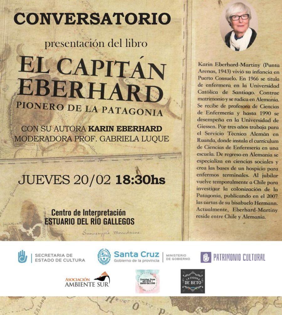 """Presentación del libro """"El capitán Eberhard, pionero de la Patagonia"""""""
