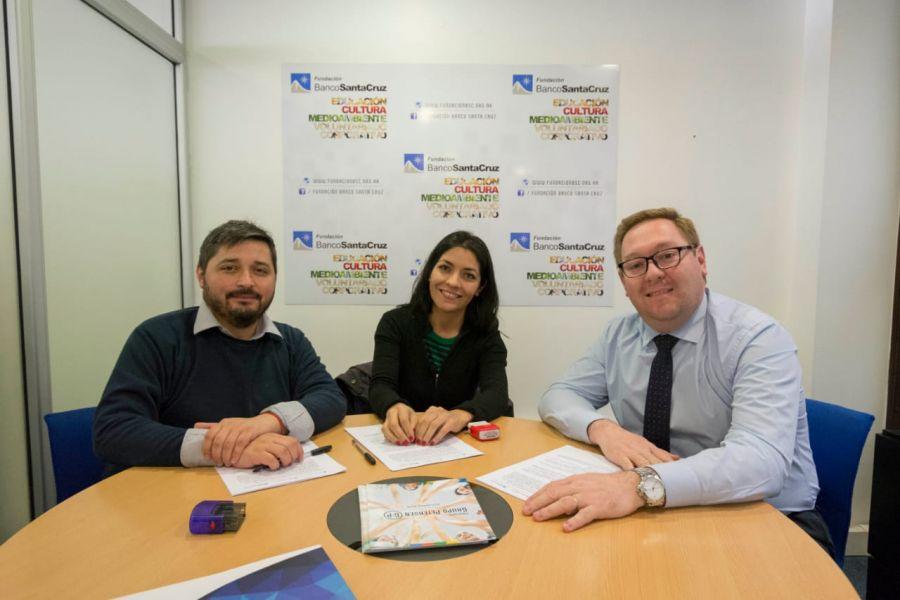 Cultura firmó un nuevo convenio con la Fundación Banco Santa Cruz