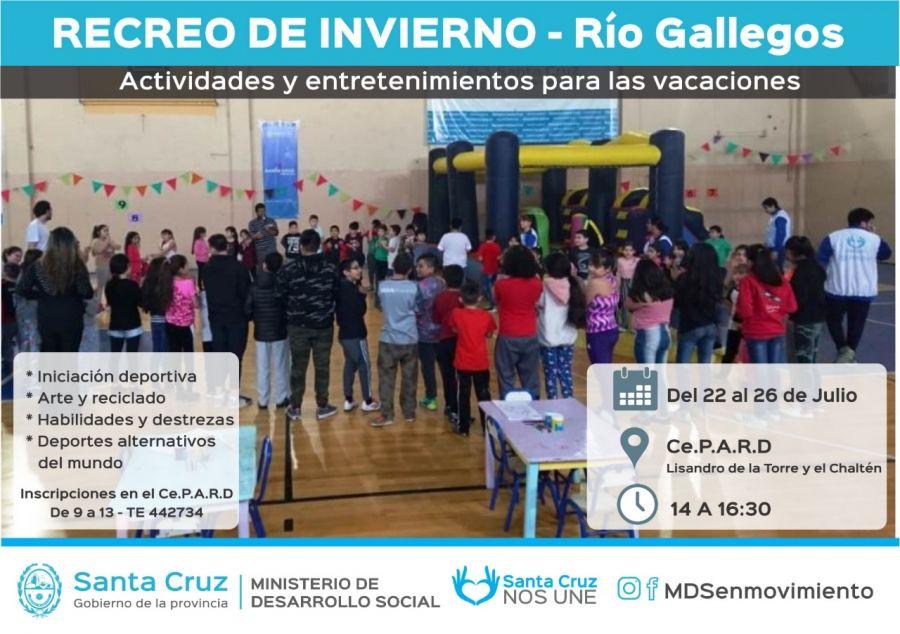 """""""Recreo de Invierno"""": Una propuesta para niños y niñas de Río Gallegos"""