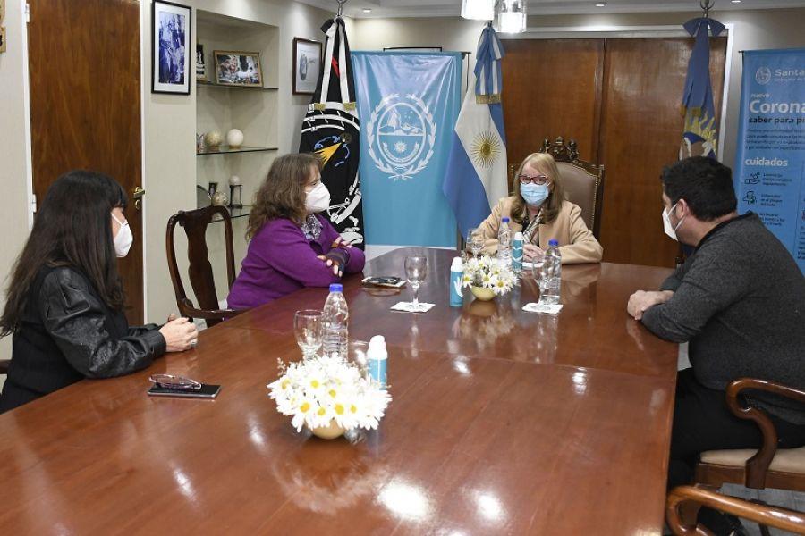 Alicia se reunió con autoridades del PAMI en Casa de Gobierno