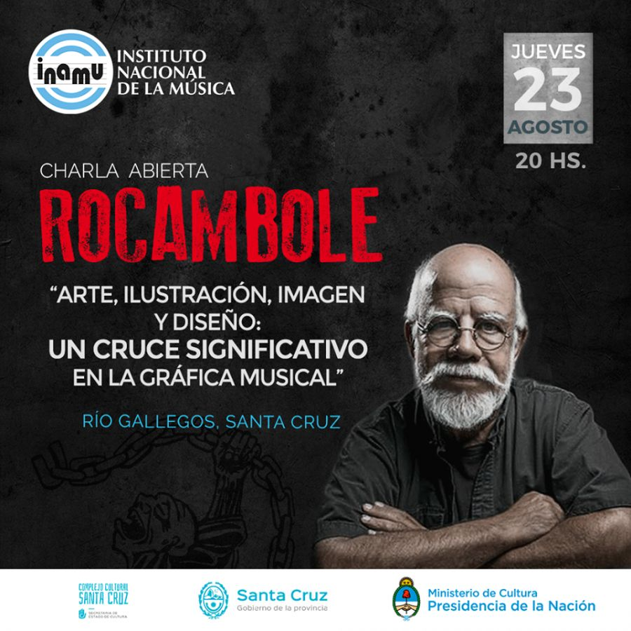 El legendario Rocambole brindará una charla en el Complejo Cultural