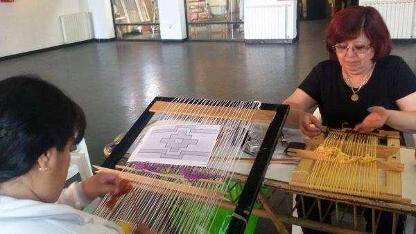 Se inició el taller de tapiz del maestro Jesús Casimiro en el Complejo Cultural Santa Cruz