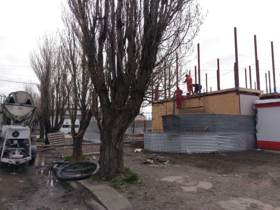 Avanza la obra de la Unidad Ejecutora Portuaria de Santa Cruz